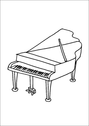 piano pictures to color piano coloring pages coloring pages to download and print color pictures piano to
