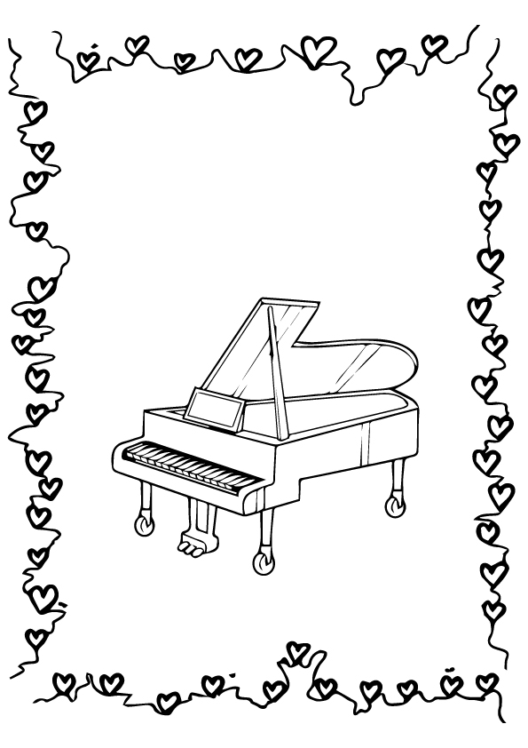 piano pictures to color piano coloring pages kidsuki pictures piano color to