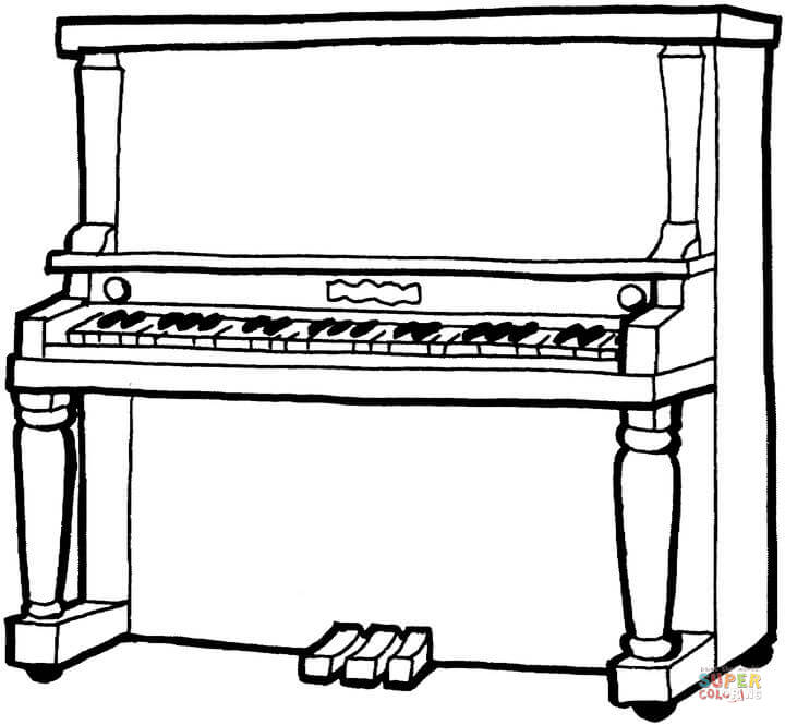 piano pictures to color unique piano coloring page free printable coloring pages color pictures piano to