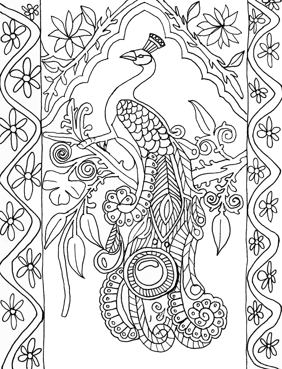 picture of peacock to color a cartoon imagery of peacock coloring page kids play color to picture color of peacock