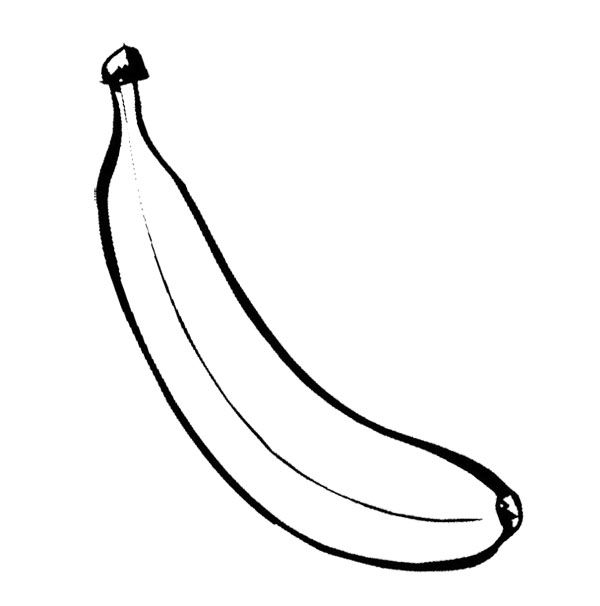 pictures of bananas to color banana coloring page fruits and vegetables pictures of color bananas to