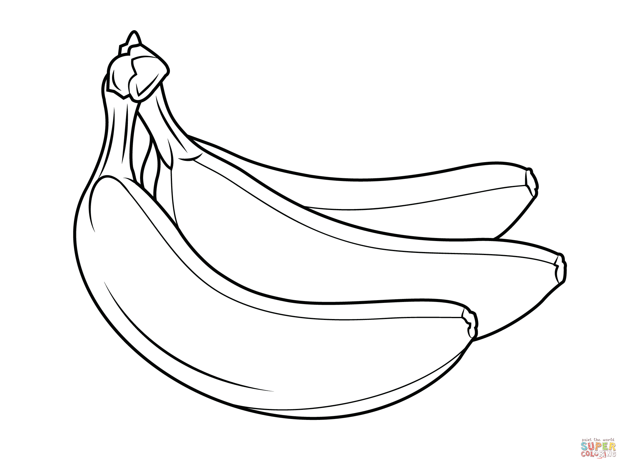 pictures of bananas to color banana coloring pages download and print banana coloring color to pictures of bananas