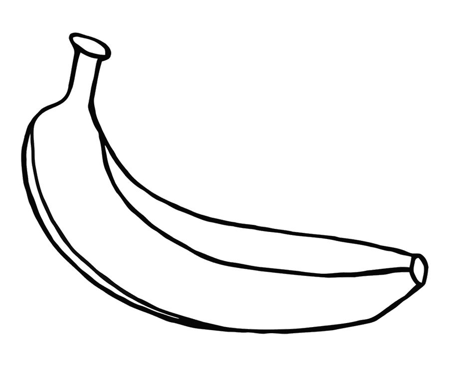 pictures of bananas to color banana drawing outline at getdrawings free download bananas color to pictures of