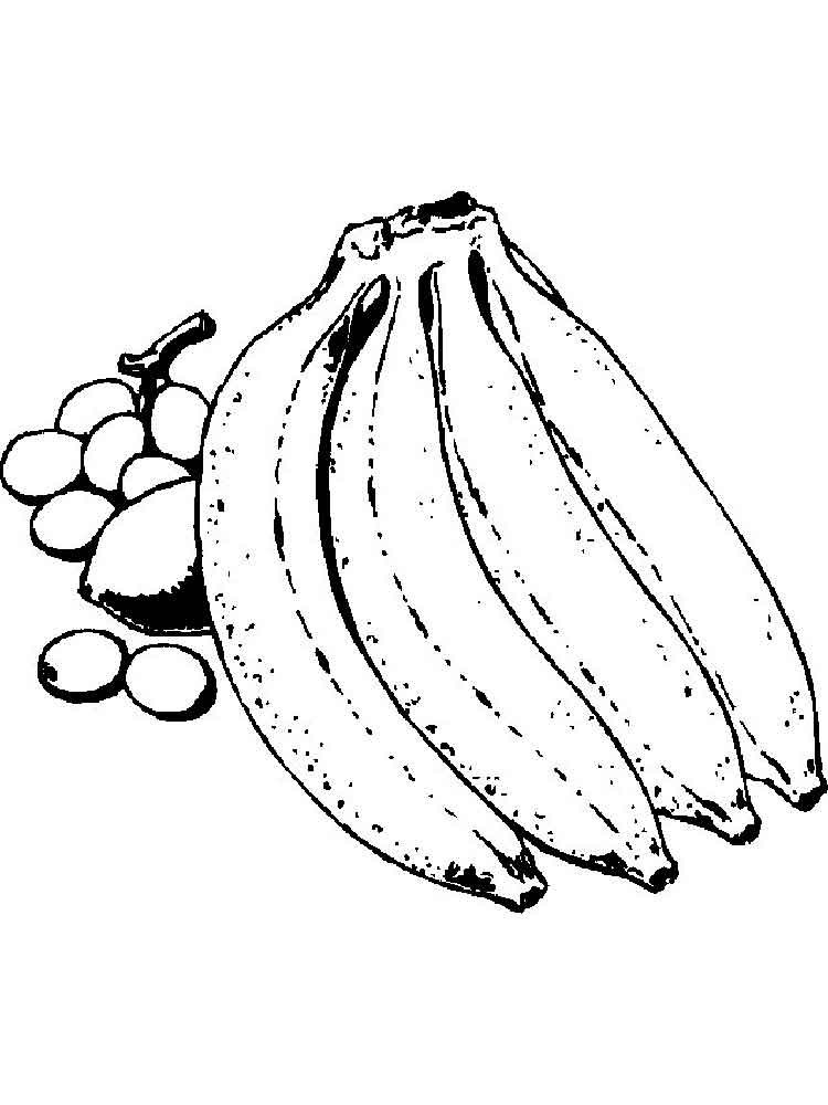 pictures of bananas to color coloring pages banana 11 food fruits gt bananas free of to bananas pictures color