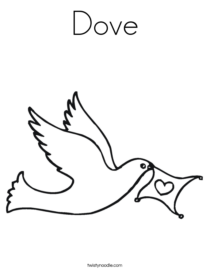 pictures of doves to color dove coloring page twisty noodle of color to doves pictures