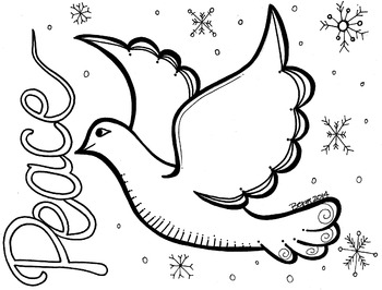 pictures of doves to color peace dove coloring sheet by koolkat39s art bin tpt pictures doves of color to