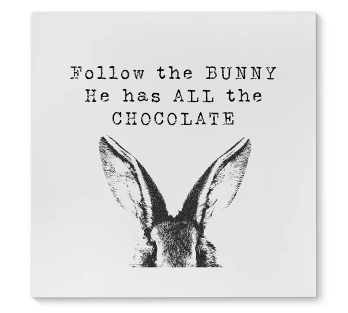 pictures of easter bunny follow the bunny easter print on canvas of easter pictures bunny