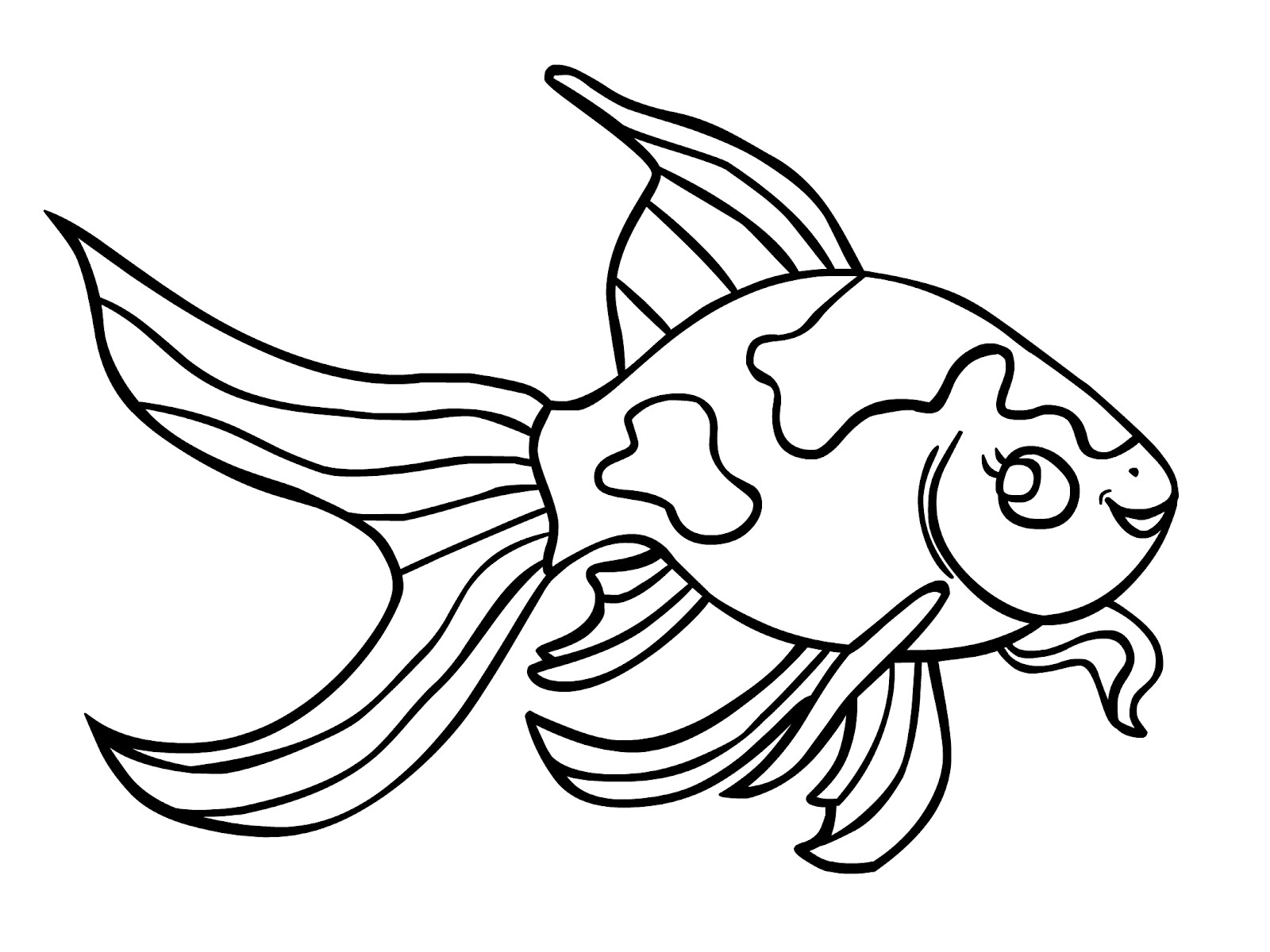 pictures of fish to color free printable goldfish coloring pages for kids fish pictures to color of