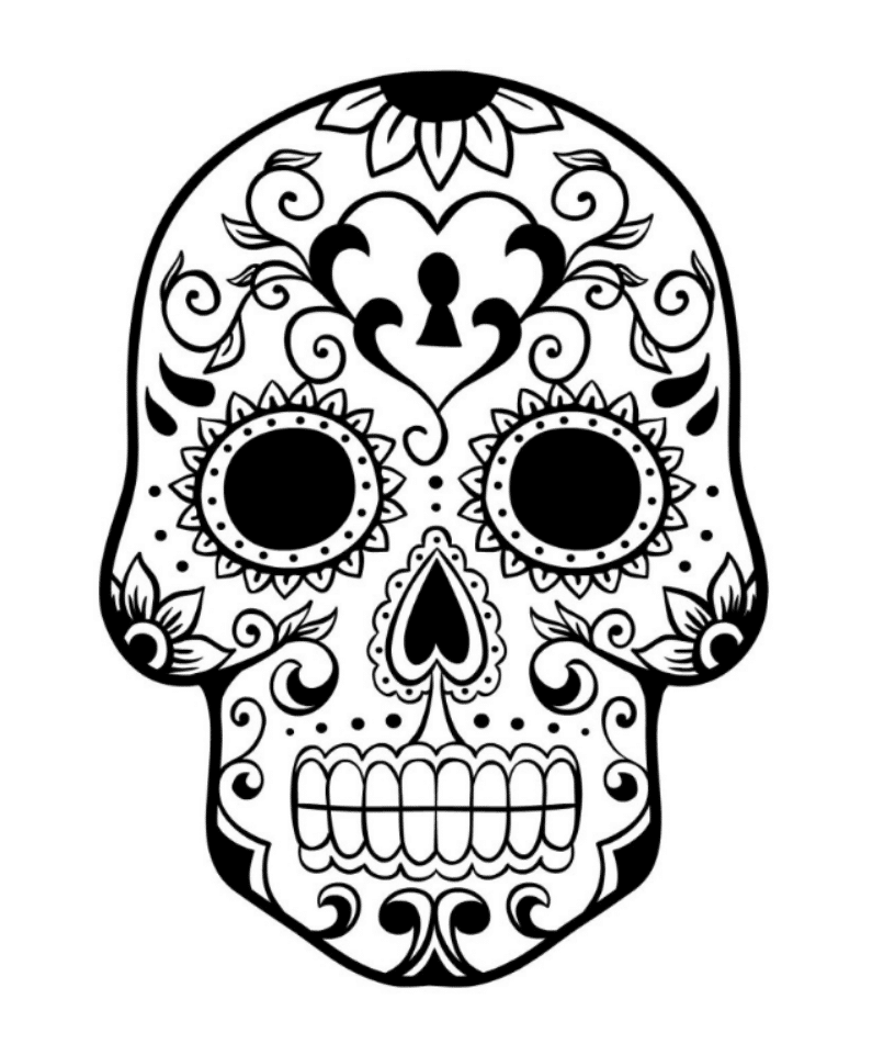 pictures of skulls to color cool skull coloring pages at getcoloringscom free skulls color pictures of to
