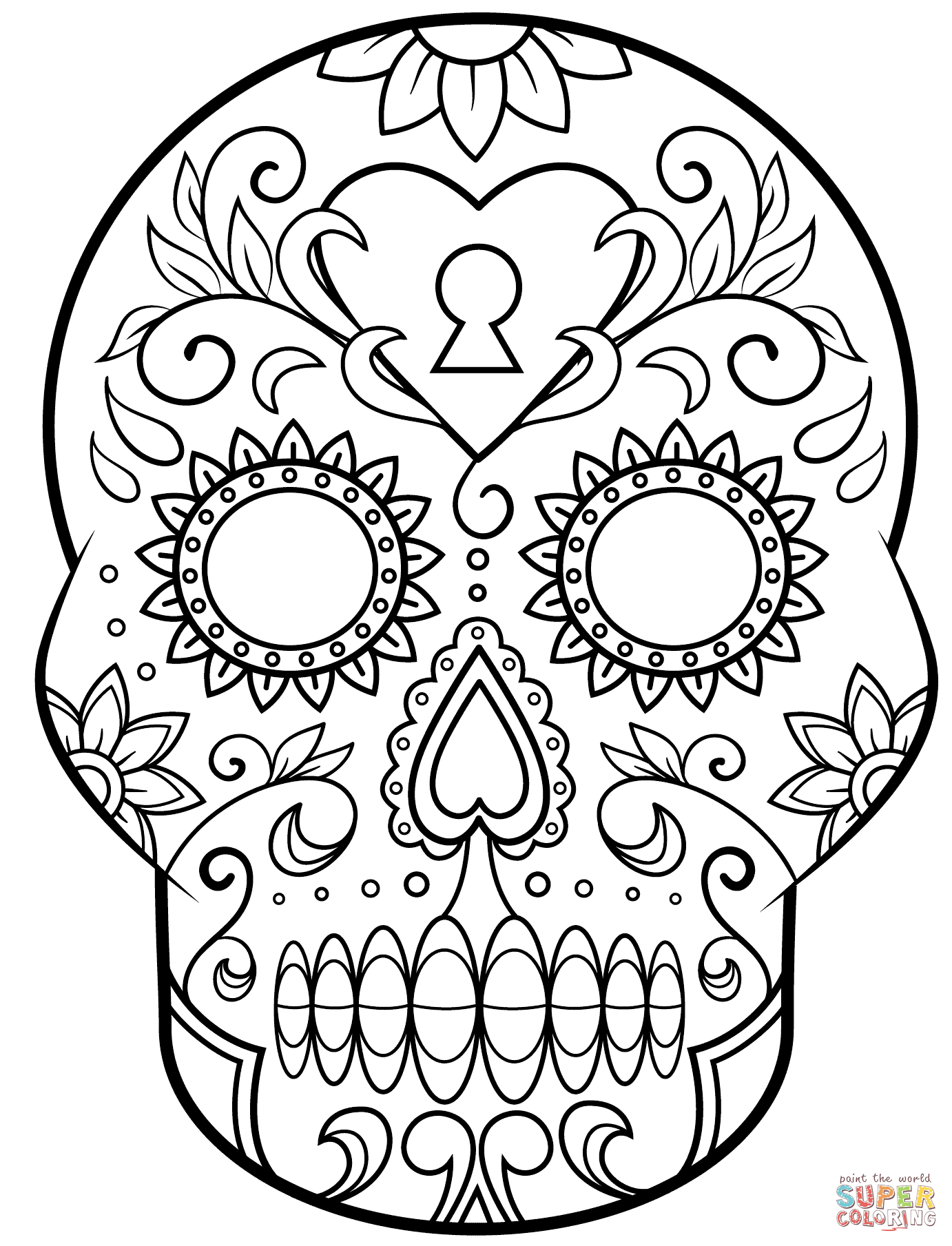 pictures of skulls to color fire skull drawing at getdrawings free download skulls color of pictures to