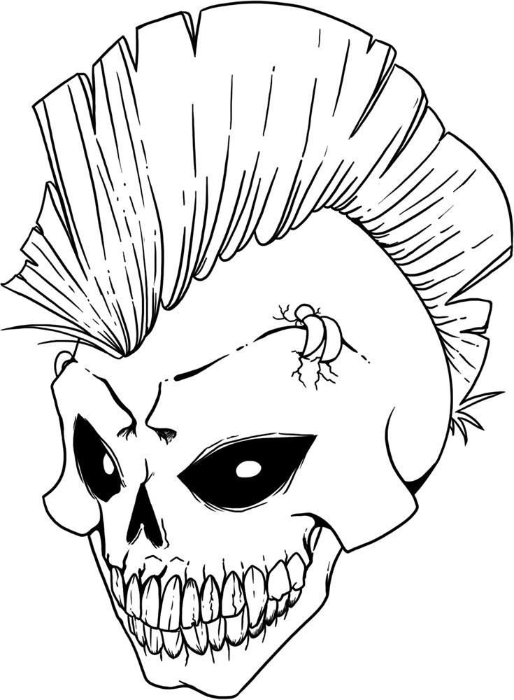 pictures of skulls to color free printable skull coloring pages for kids color of to pictures skulls