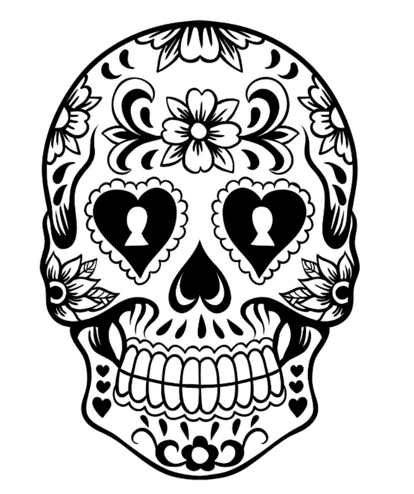 pictures of skulls to color free printable skull coloring pages for kids of skulls pictures color to