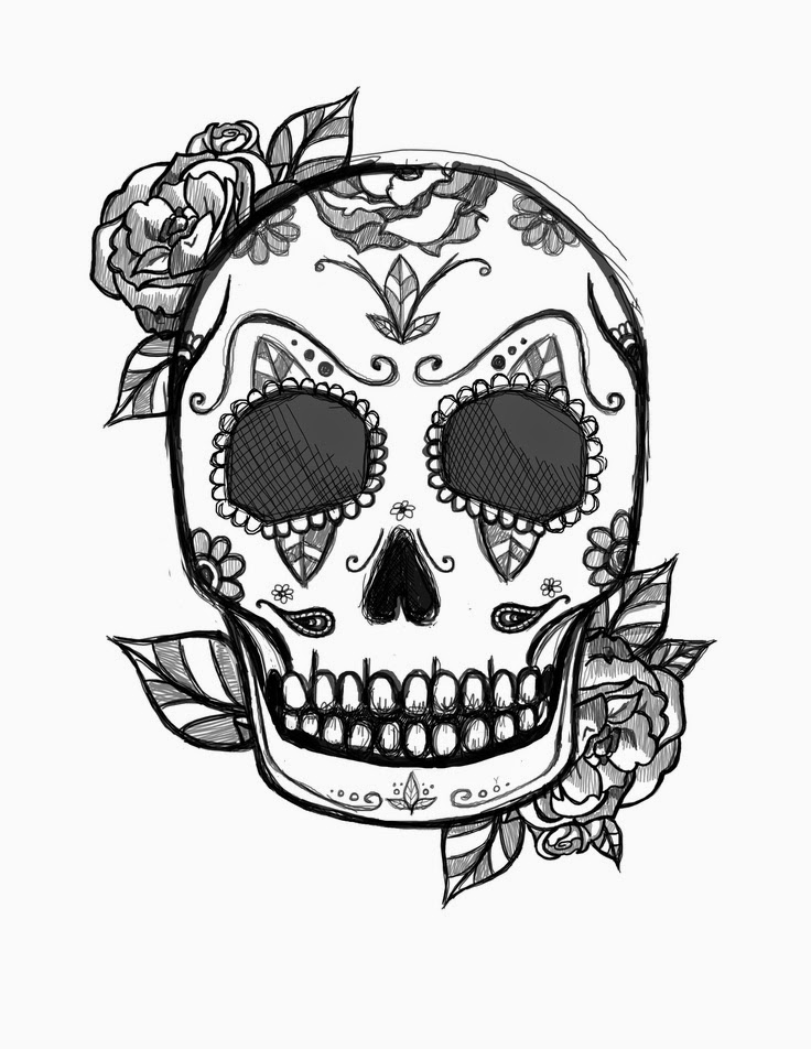 pictures of skulls to color free printable skull coloring pages for kids pictures to skulls color of