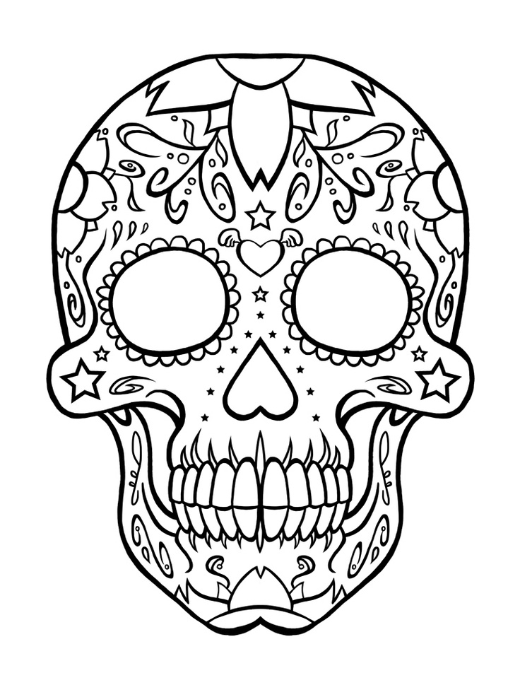 pictures of skulls to color halloween colorings skulls color pictures of to