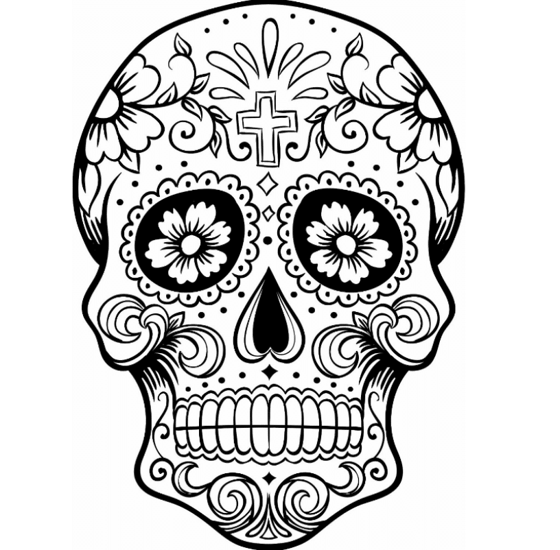 pictures of skulls to color print download sugar skull coloring pages to have to color skulls pictures of