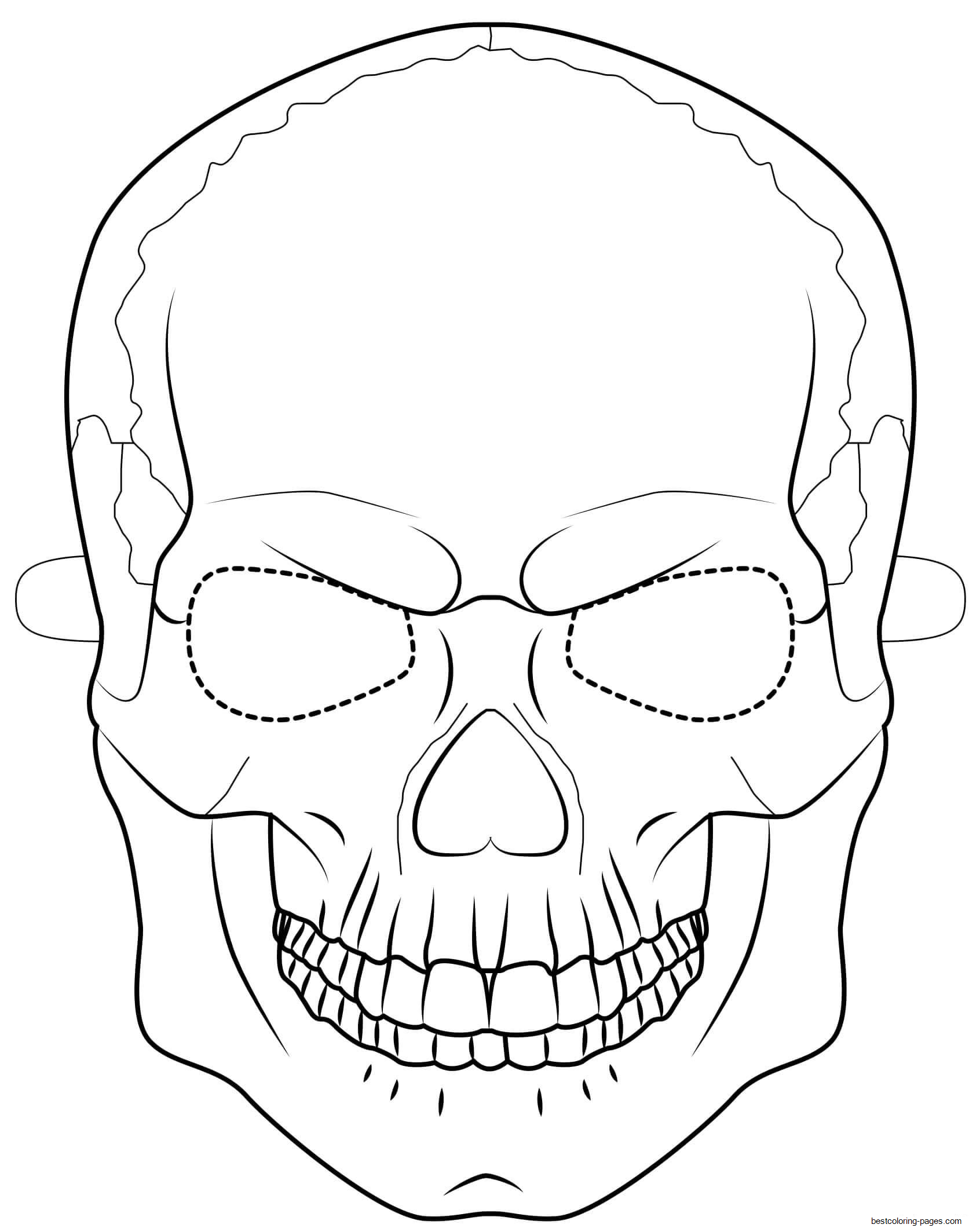 pictures of skulls to color printable skulls coloring pages for kids cool2bkids skulls pictures of color to
