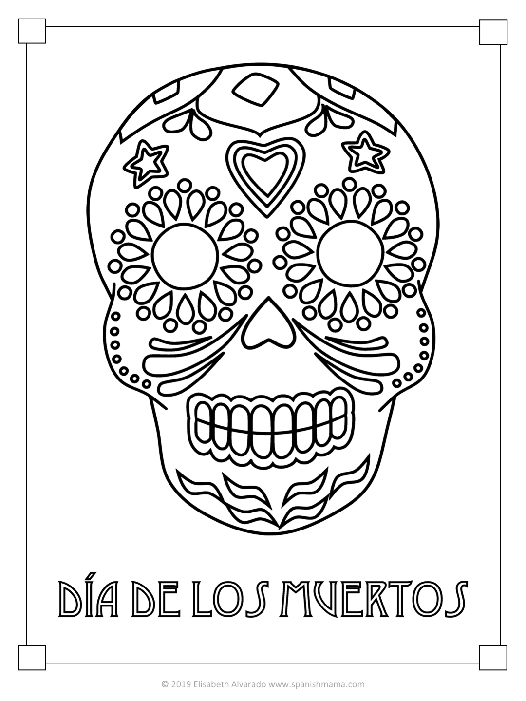 pictures of skulls to color sugar skull coloring pages and masks for día de muertos of pictures to skulls color