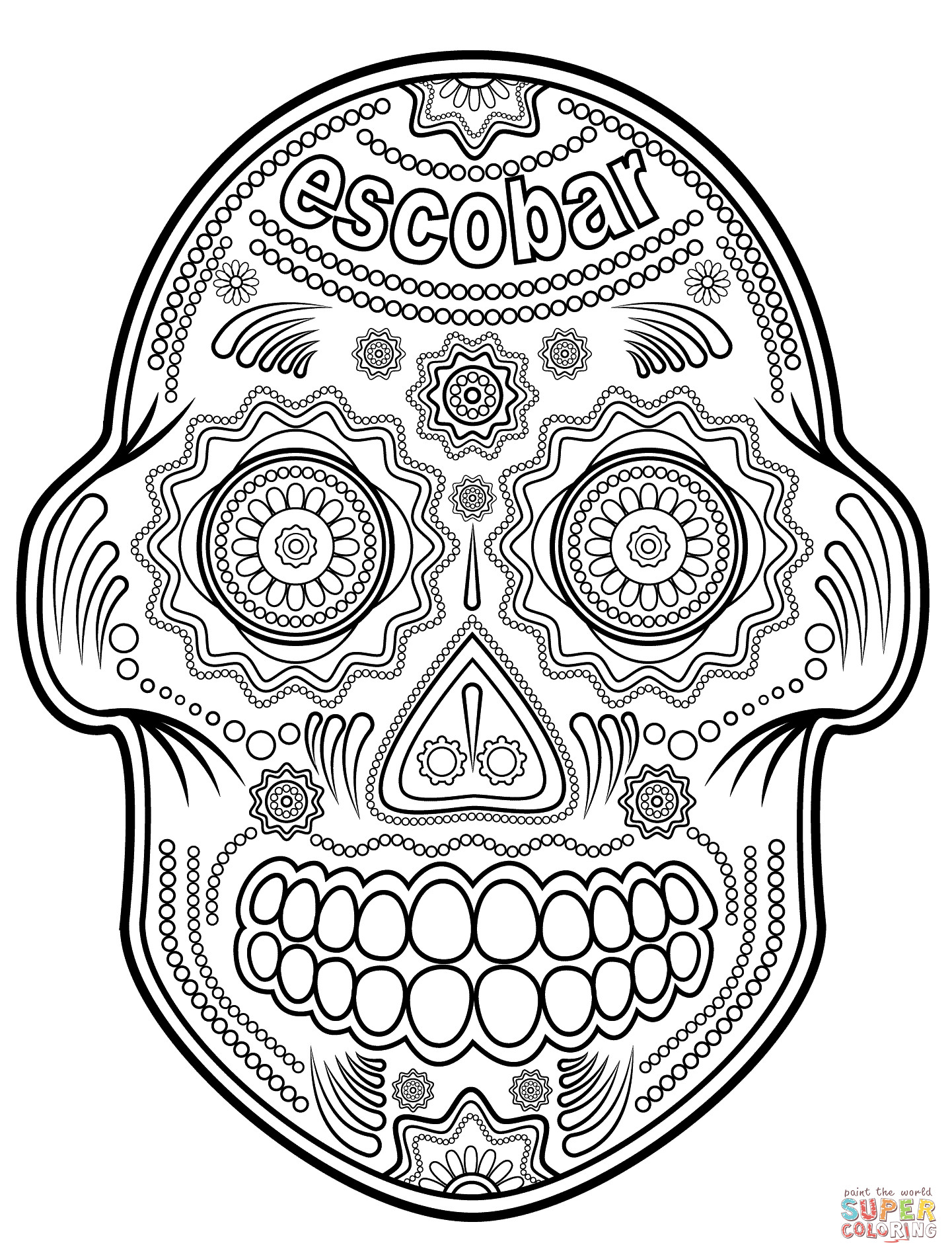 pictures of skulls to color sugar skull coloring pages coloringrocks to skulls of color pictures