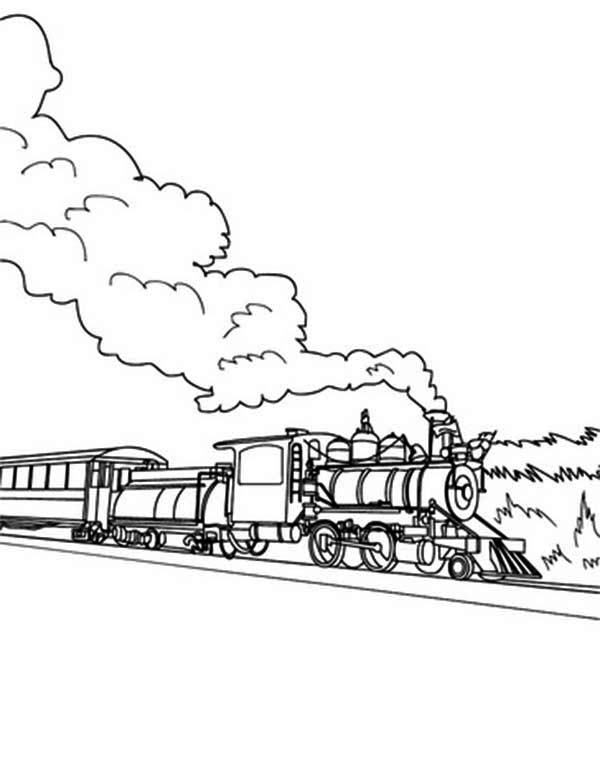 pictures of steam trains to colour long steam train on railroad coloring page color luna colour steam to trains of pictures