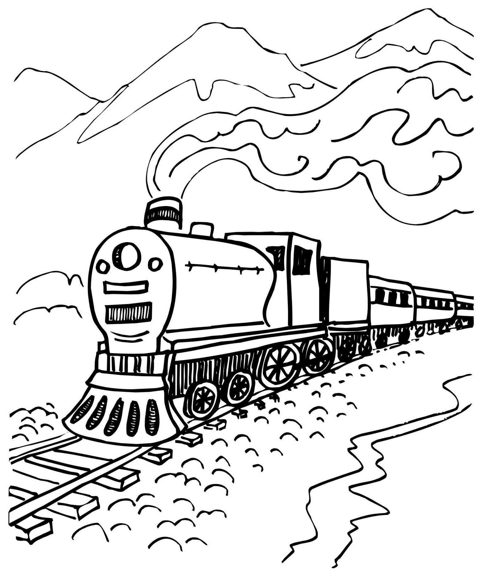 pictures of steam trains to colour steam train coloring page with mountain scenery to colour trains of pictures steam