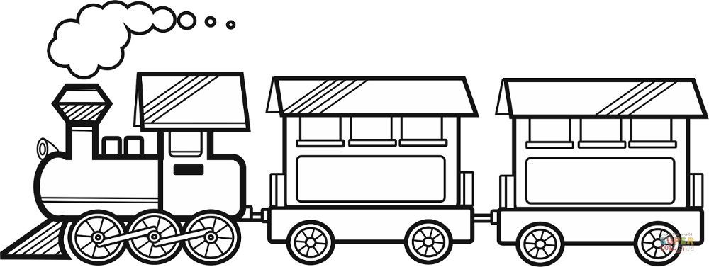 pictures of steam trains to colour steam train with two carriages coloring page free steam pictures to of trains colour