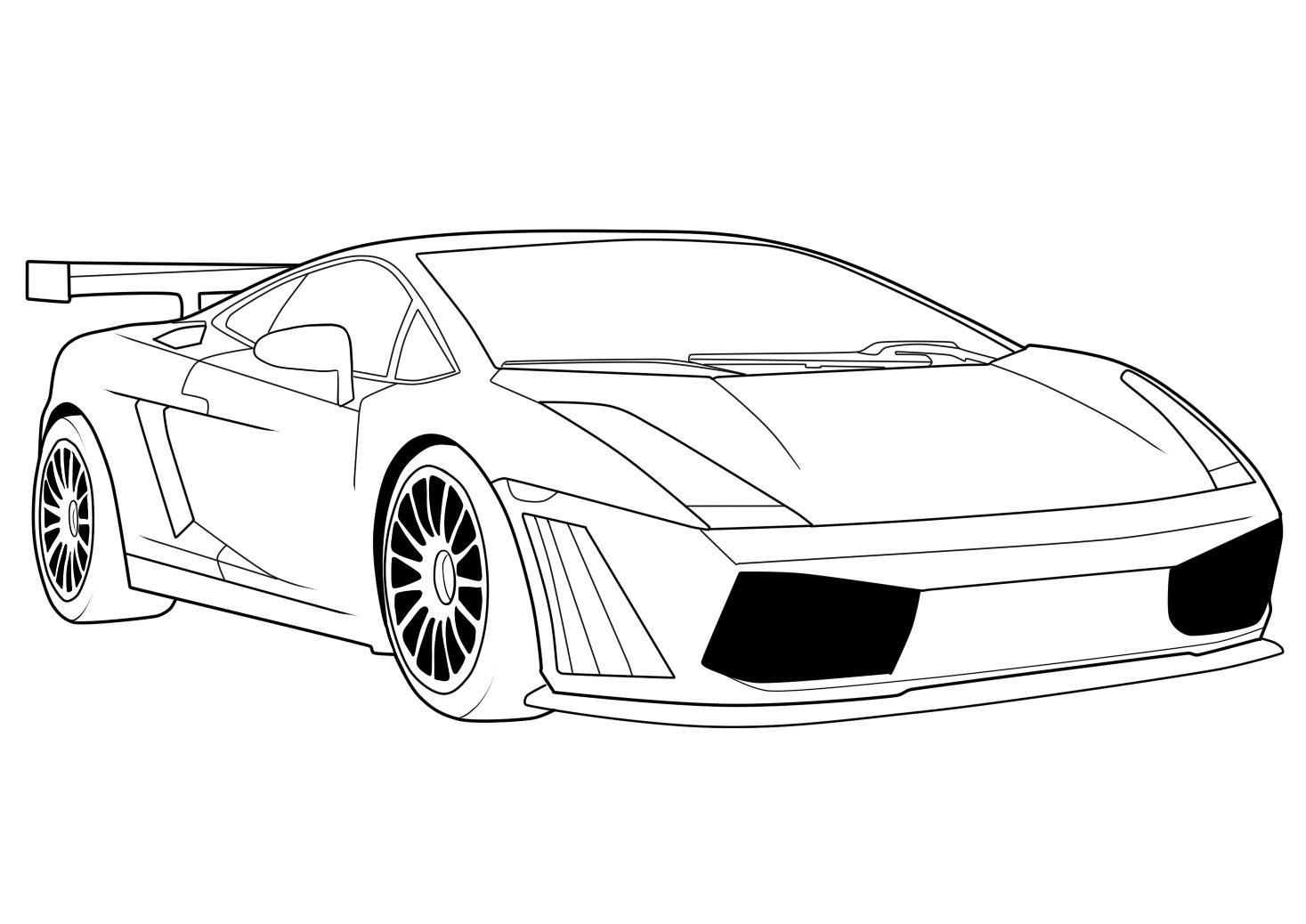 pictures to colour in of cars 10 car coloring sheets sports muscle racing cars and colour to of pictures in cars