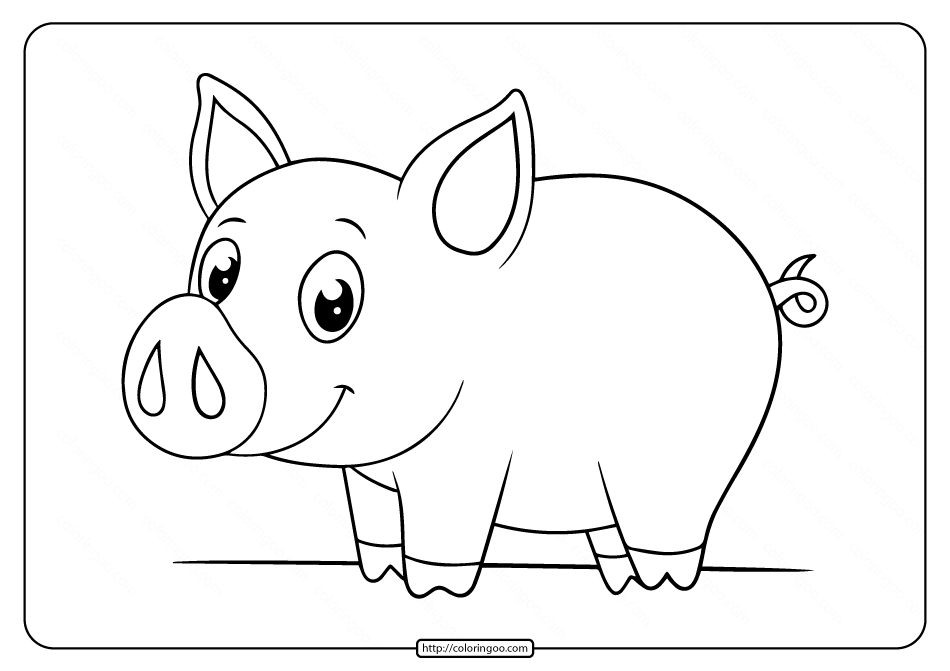 pig cartoon coloring 70 animal colouring pages free download print free pig coloring cartoon
