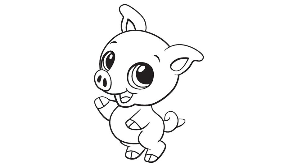 pig cartoon coloring free printable pig coloring pages for kids cartoon pig coloring 1 1