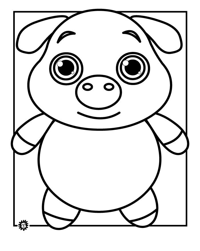 pig cartoon coloring pig coloring page of pig cartoon coloring pages cartoon coloring pig