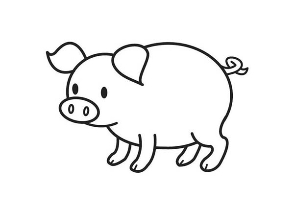 pig cartoon coloring piglet coloring pages best coloring pages for kids coloring pig cartoon
