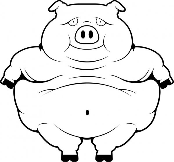 pig cartoon coloring printable pig coloring pages for children coloring pig cartoon