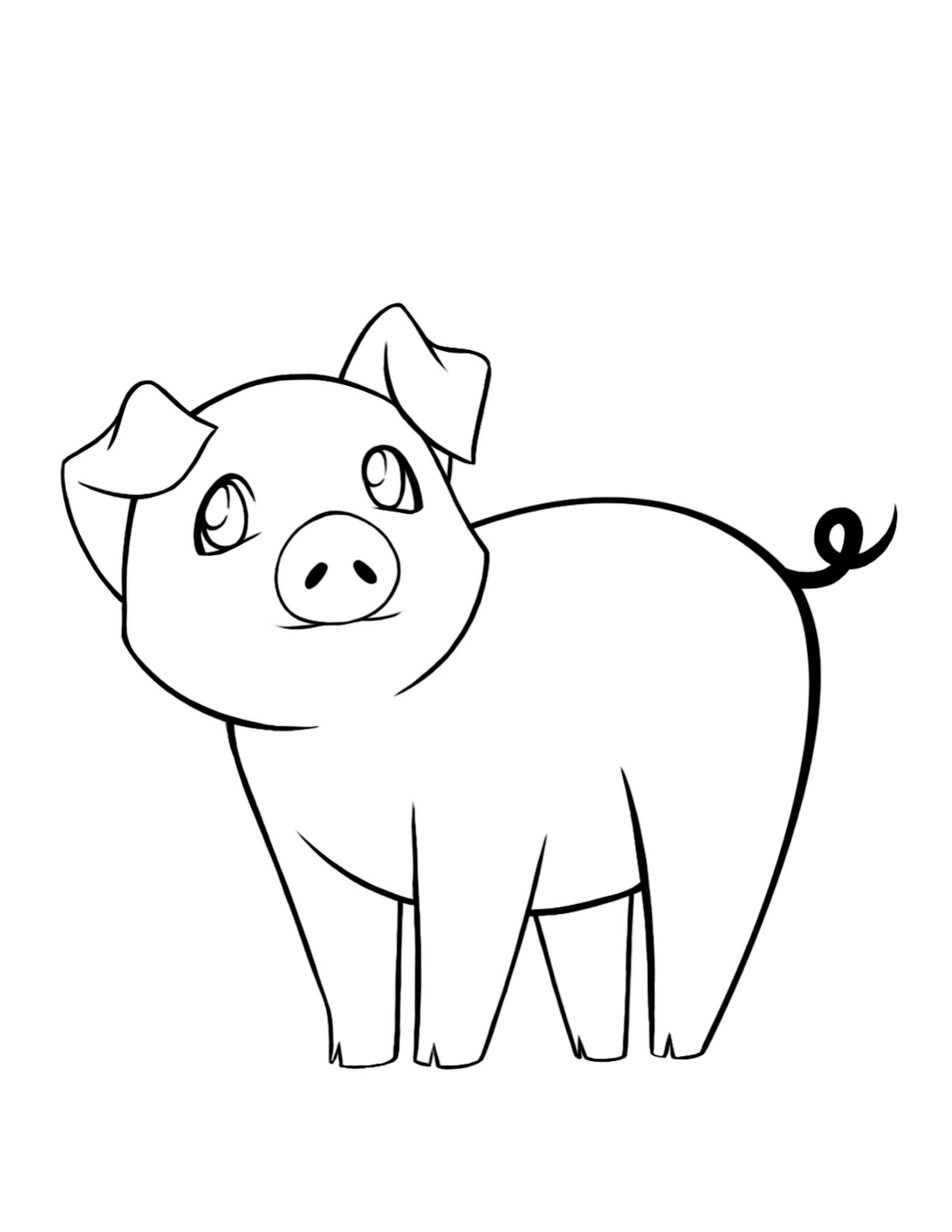 pig cartoon coloring the best wild hog coloring pages flower wallpaper pig coloring cartoon