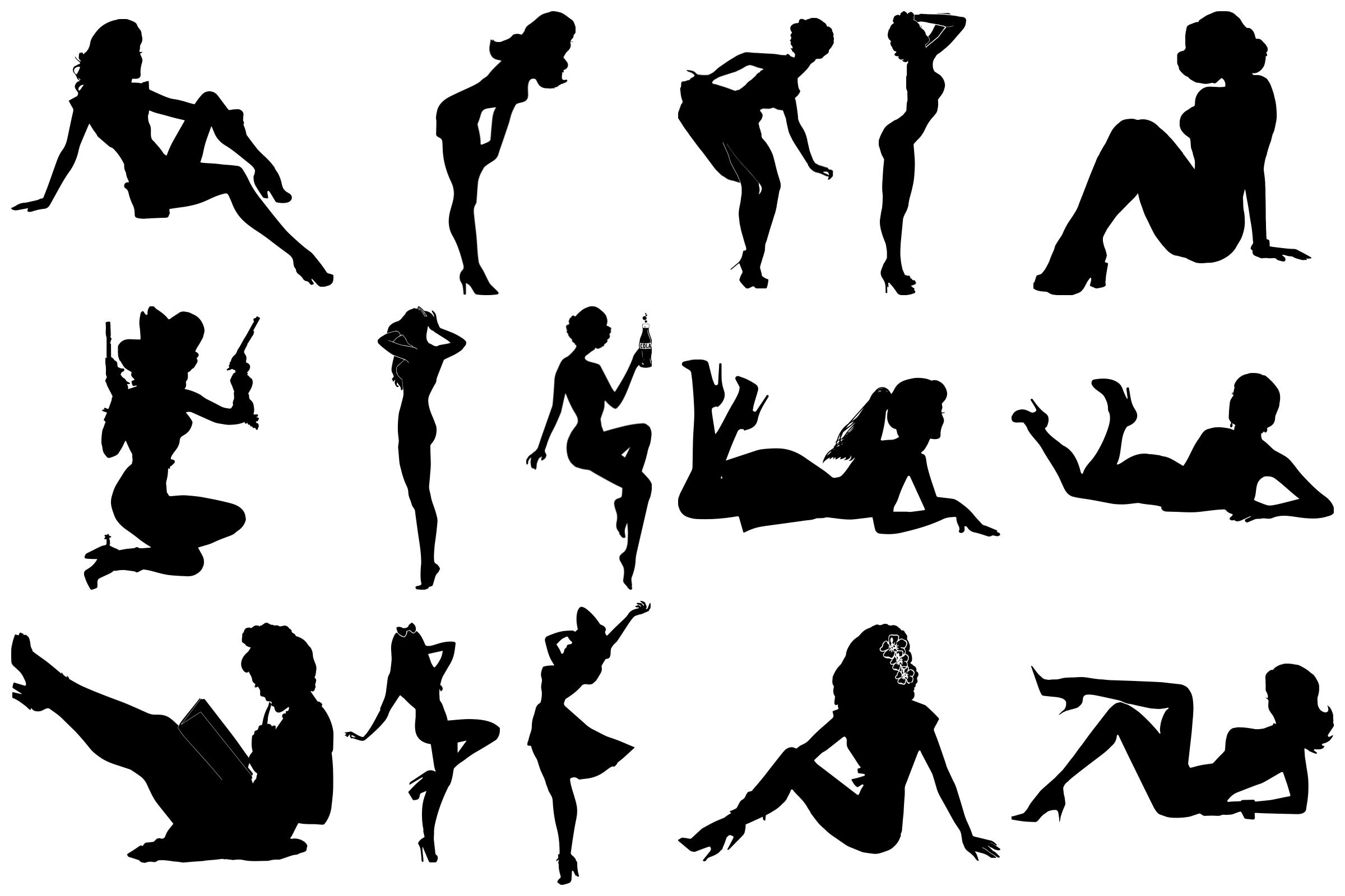 pin up silhouette pin up girl silhouette clipart 10 free cliparts download pin silhouette up