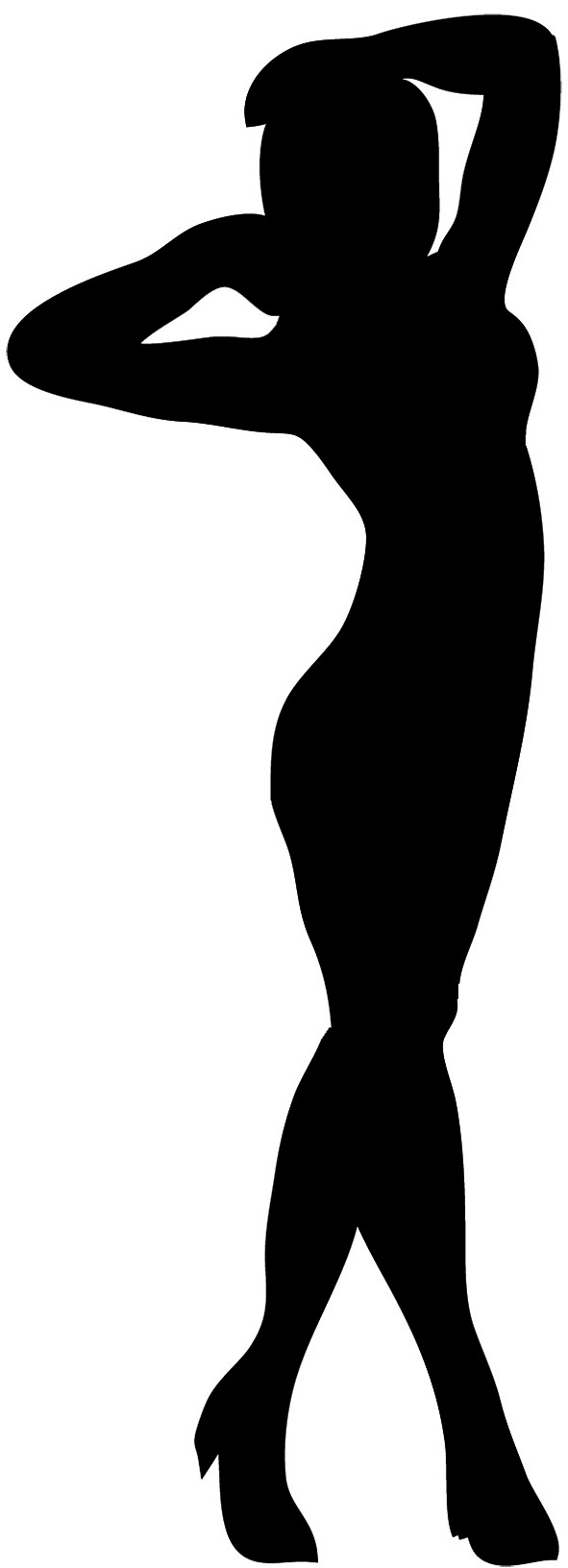 pin up silhouette pin up silhouette at getdrawings free download up pin silhouette