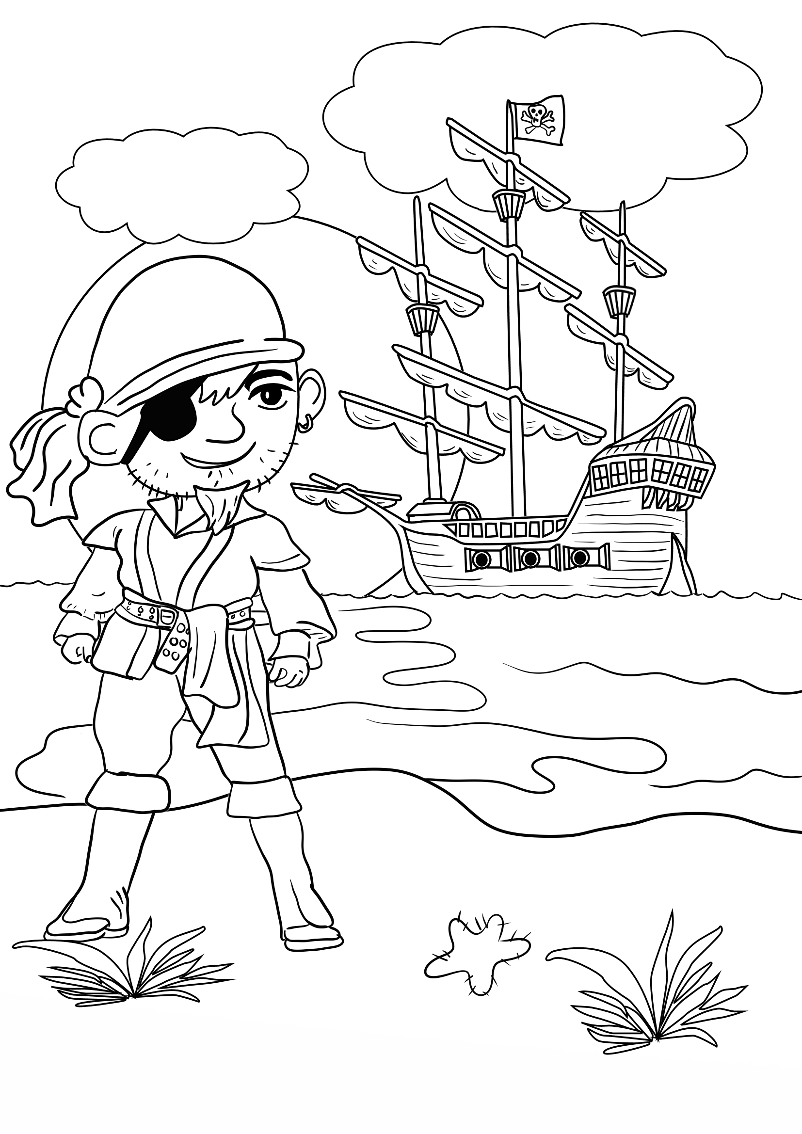 pirate images to colour free printable pirate coloring pages for kids pirate images to colour