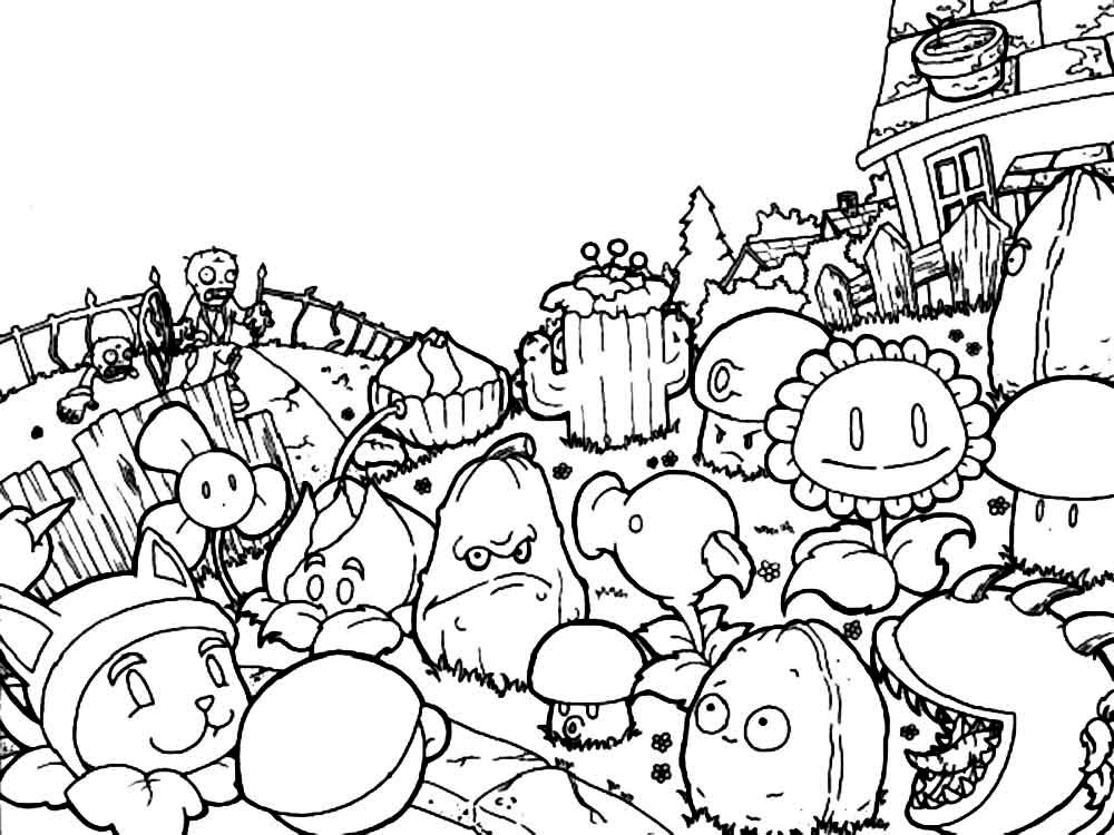 plants versus zombies coloring pages get this plants vs zombies coloring pages free for kids plants versus coloring zombies pages