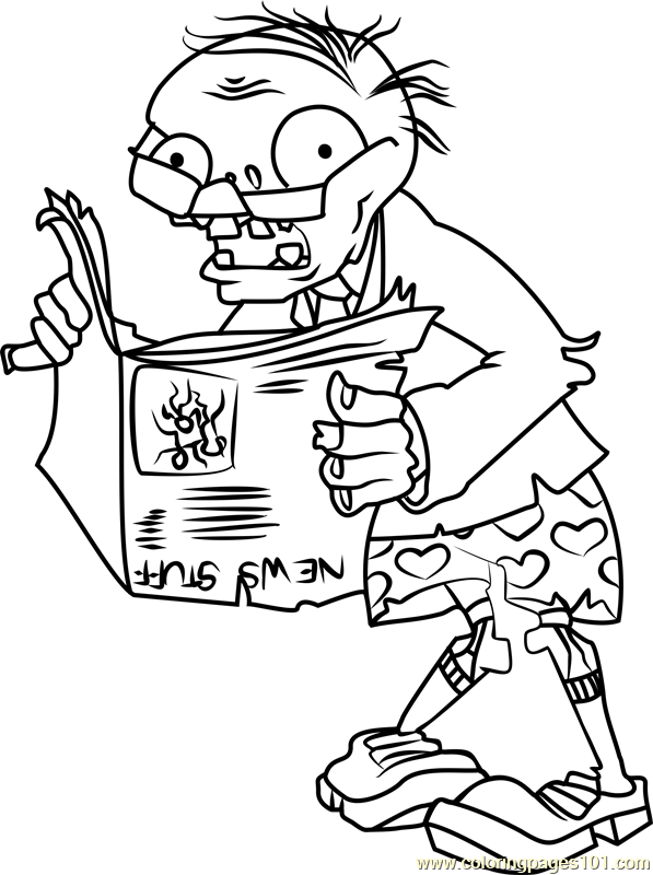 plants vs zombies coloring pages games newspaper zombie coloring page free plants vs zombies plants games pages coloring zombies vs