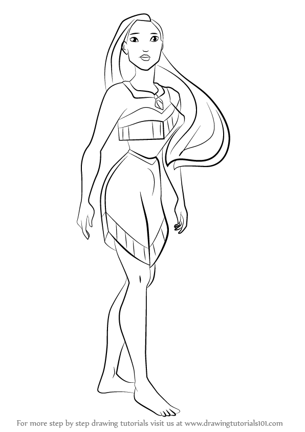 pocahontas drawing learn how to draw princess pocahontas pocahontas step by drawing pocahontas