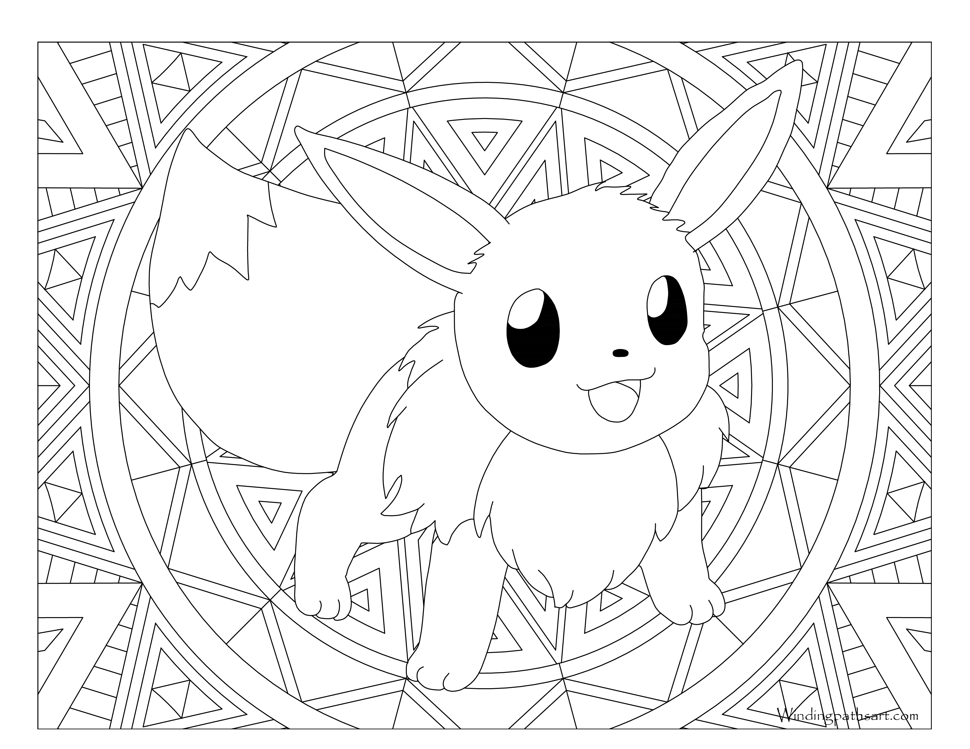pokemon coloring pages eevee adult pokemon coloring page eevee windingpathsartcom coloring pokemon eevee pages