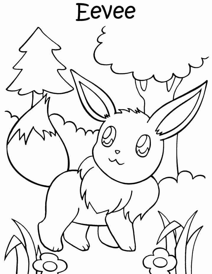 pokemon coloring pages eevee an eevee colouring page must print this later d eevee pokemon pages eevee coloring
