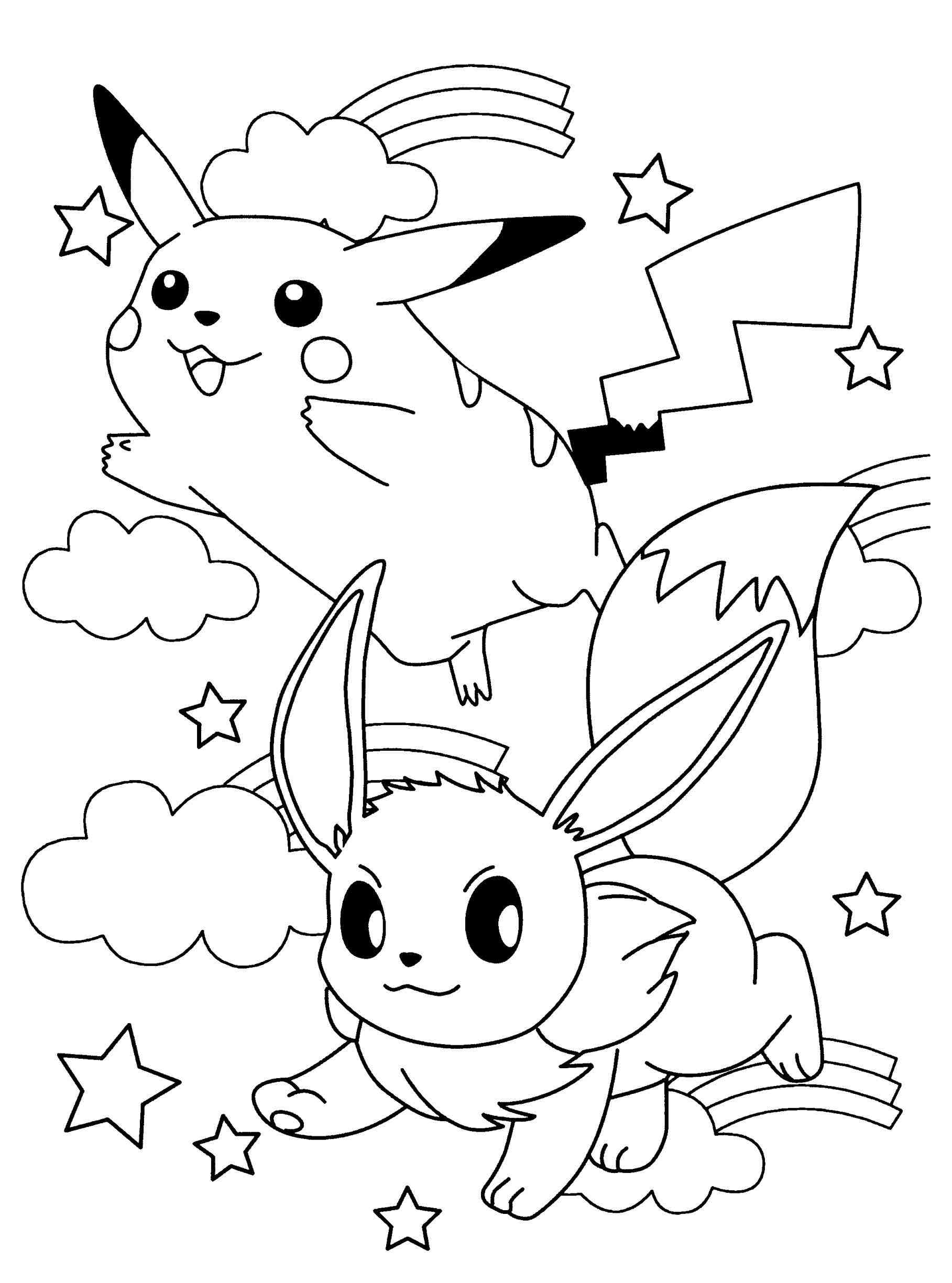 pokemon coloring pages eevee eevee coloring pages to download and print for free pages pokemon eevee coloring