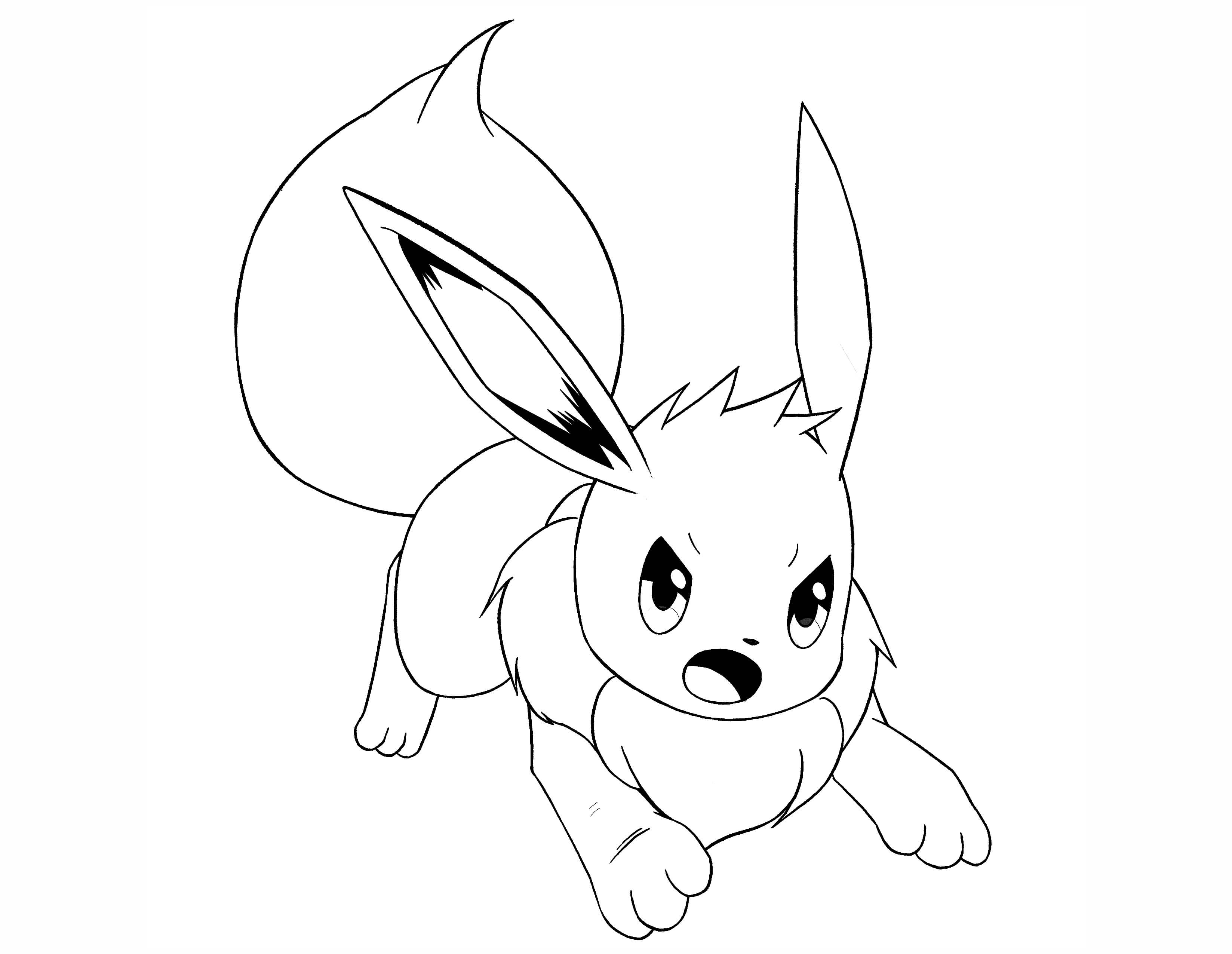 pokemon coloring pages eevee eevee from pokemon coloring home pages eevee coloring pokemon