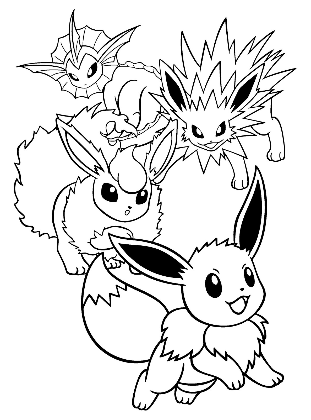 pokemon coloring pages eevee pokemon coloring pages eevee evolutions coloring home pokemon eevee coloring pages