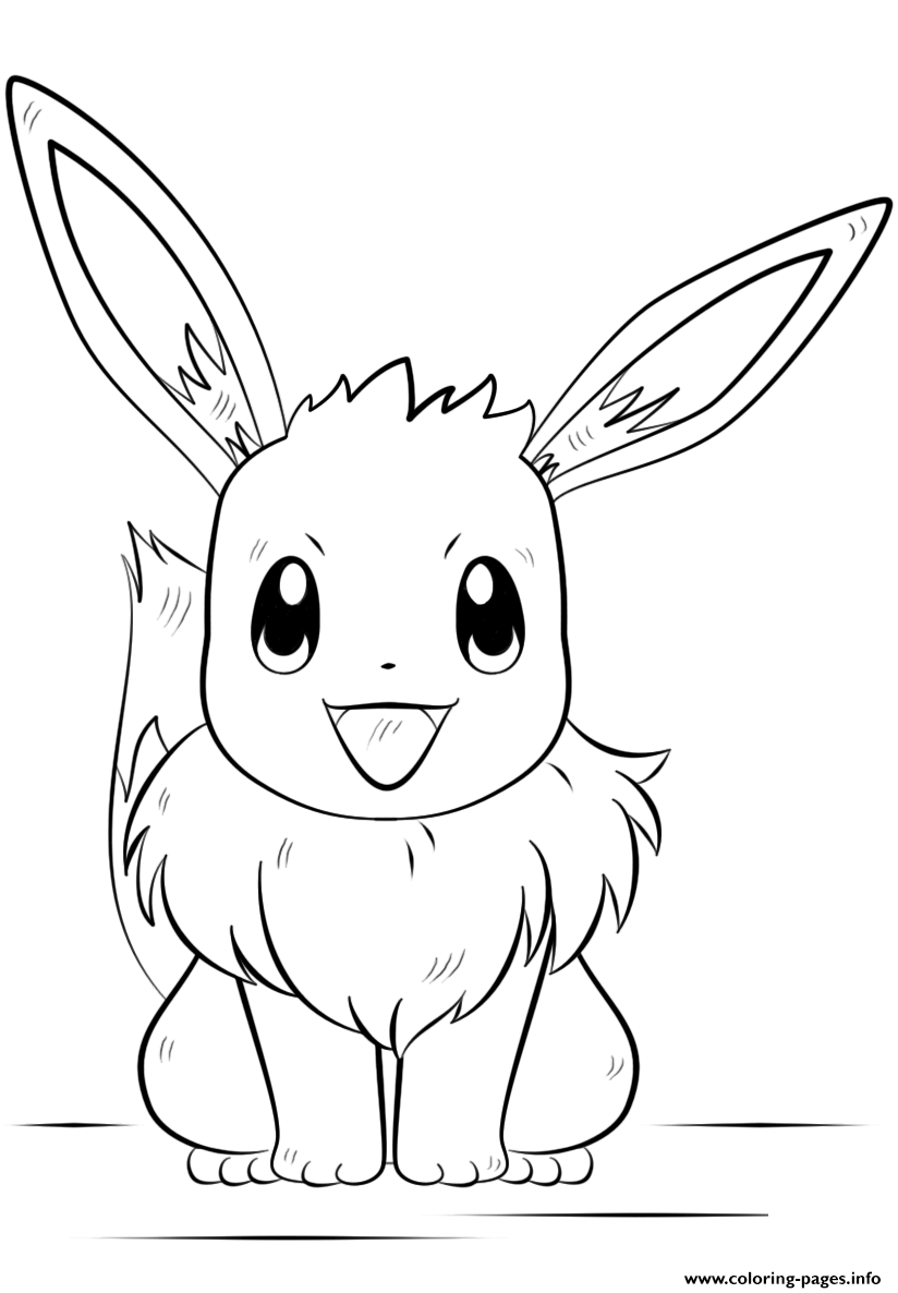 pokemon coloring pages eevee the best free eevee coloring page images download from coloring pokemon pages eevee