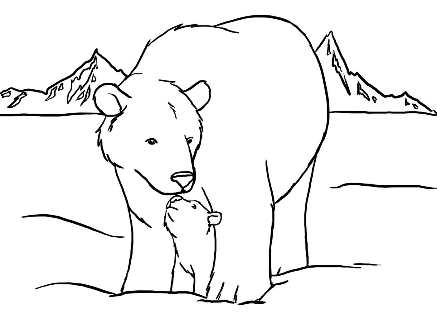 polar bear coloring pages polar bear coloring pages to download and print for free coloring polar bear pages