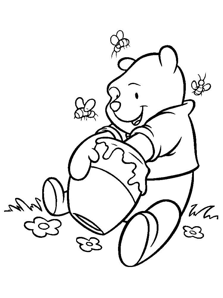 pooh bear coloring pages baby pooh bear digging honey jar coloring pages coloring sky coloring pooh bear pages
