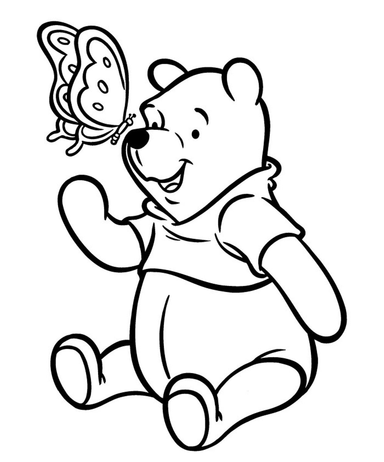 pooh bear coloring pages pooh bear coloring pages to download and print for free pages pooh coloring bear