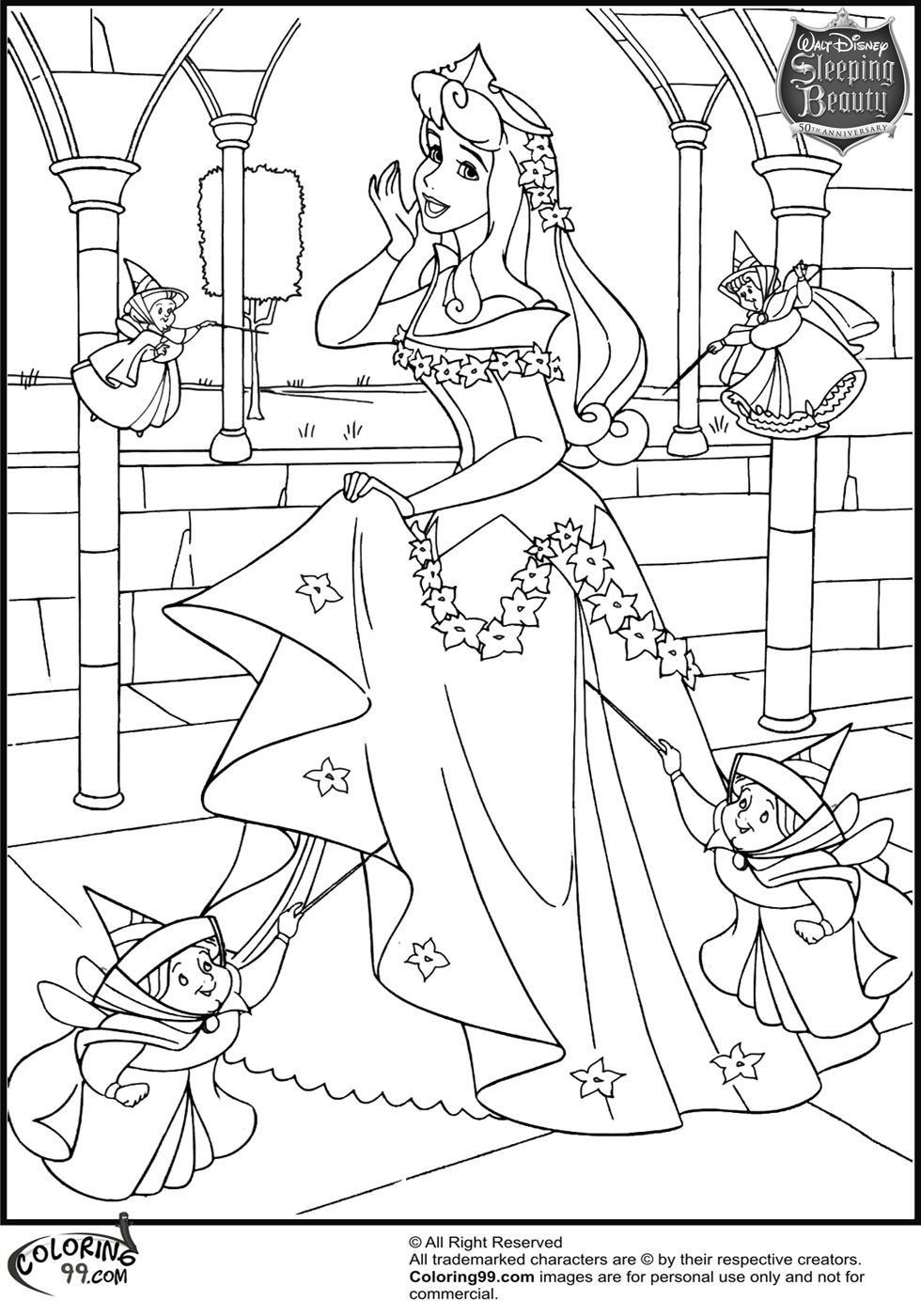 princess aurora pictures to color disney princess sleeping beauty aurora colouring sheets princess to pictures color aurora