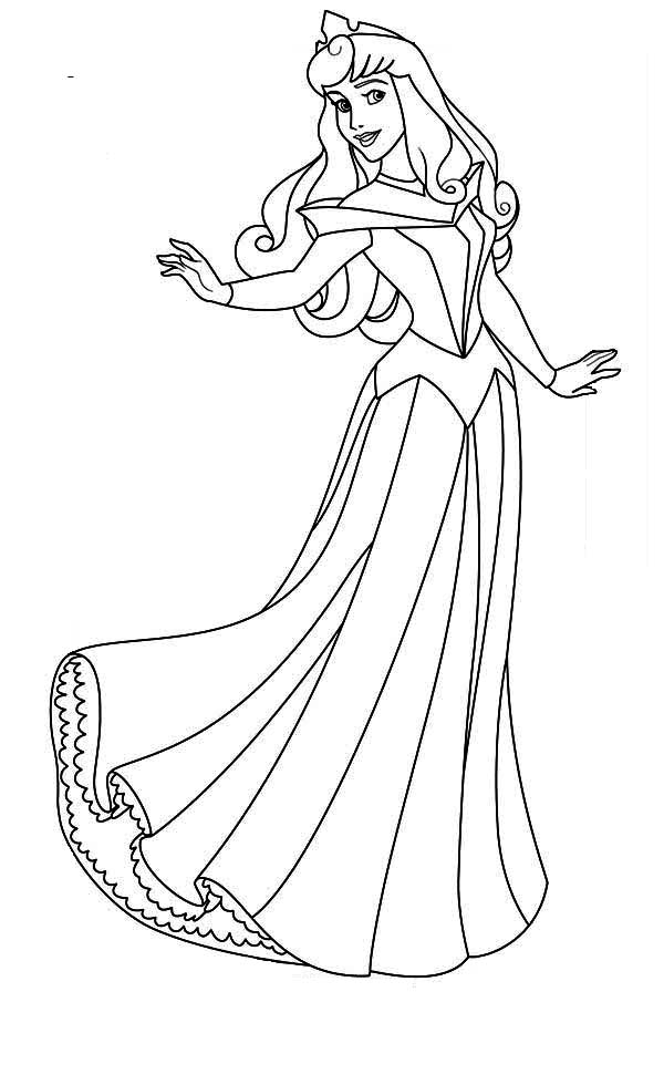 princess aurora pictures to color princess aurora sitting on bench in sleeping beauty to aurora pictures color princess