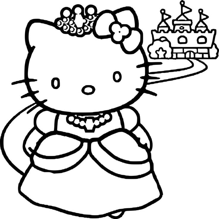 princess kitten coloring pages 16 coloriage imprimer hello kitty princesse in 2020 kitten princess coloring pages